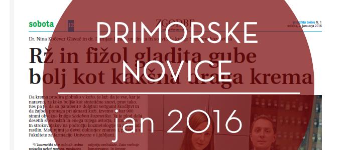 Primorske novice, januar 2016
