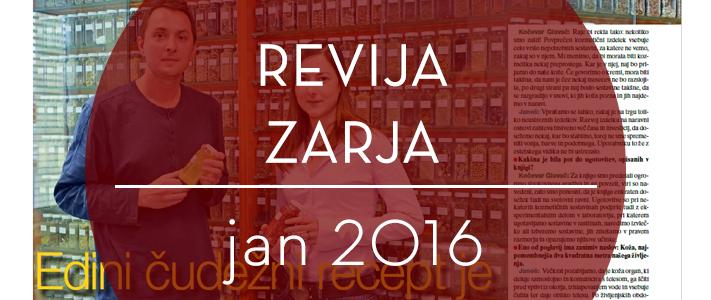 Revija Zarja, januar 2016